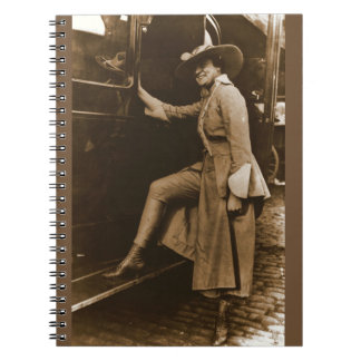 Chicago Suffragette Marching Costume Spiral Notebook