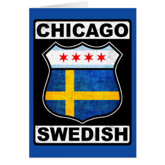 Chicago Swedish American Card