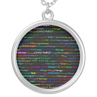Chicago Text Design I Necklace