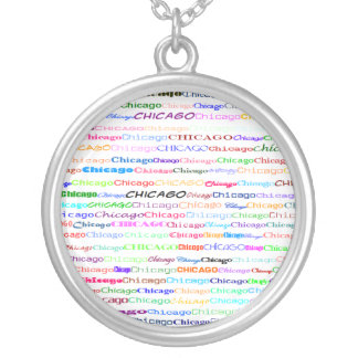 Chicago Text Design II Round Necklace