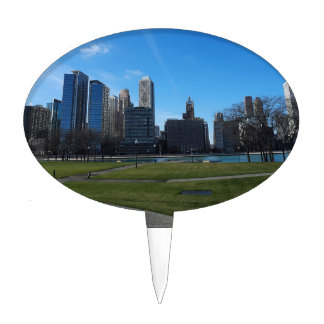 Chicago -The Lake Michigan Cake Toppers