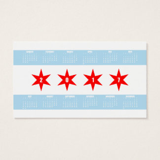15 Chicago Flag Business Cards and Chicago Flag Business