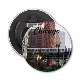 Chicago Travel Photo Bottle Opener