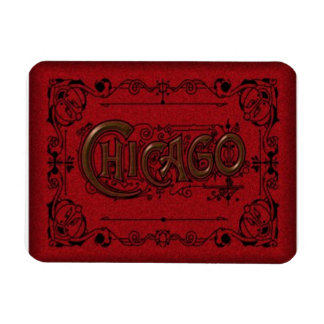 Chicago Travel Souvenier Magnet Old Timey Look