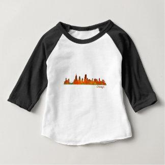Chicago U.S. Skyline cityscape Baby T-Shirt