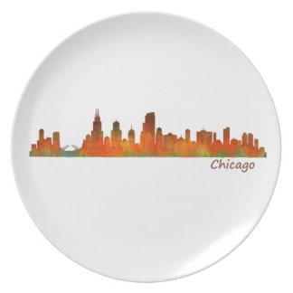 Chicago U.S. Skyline cityscape Plate