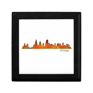 Chicago U.S. Skyline cityscape Small Square Gift Box