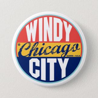 Chicago Vintage Label 7.5 Cm Round Badge