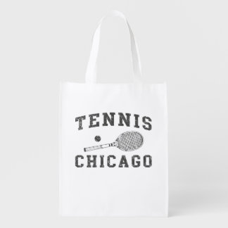 Chicago Vintage Tennis Reusable Grocery Bag