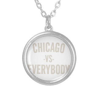 Chicago Vs Everybody Silver Plated Necklace