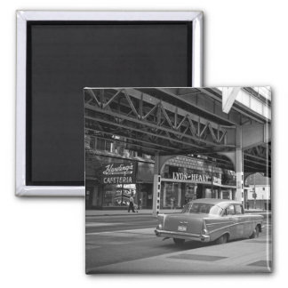Chicago Wabash Avenue 1964 Hardings Lyon Healy Square Magnet