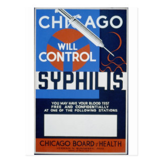 Chicago Will Control Syphilis Postcard