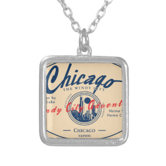 Chicago Windy City Silver Plated Necklace
