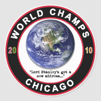 CHICAGO WORLD CHAMPS CLASSIC ROUND STICKER
