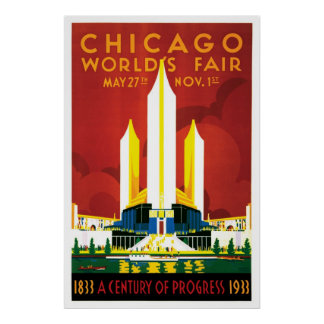 Chicago World's Fair 1933 Poster
