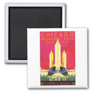 Chicago World's Fair, 1933 Square Magnet