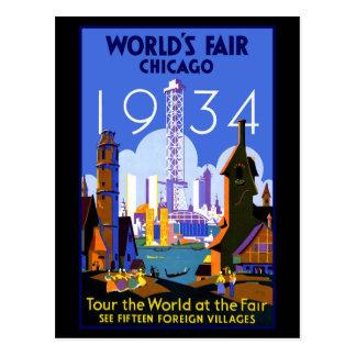 Chicago Worlds Fair 1934 Postcard