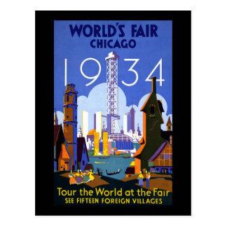 Chicago World's Fair 1934 Postcard