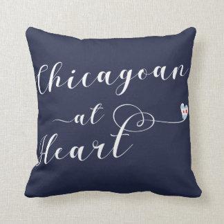 Chicagoan At Heart Throw Cushion, Chicago Cushion