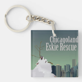 Chicagoland Eskie Rescue Keychain