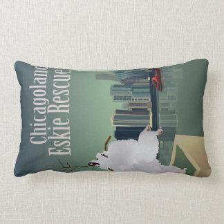 Chicagoland Eskie Rescue Lumbar Pillow