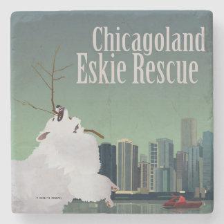 Chicagoland Eskie Rescue Stone Coaster