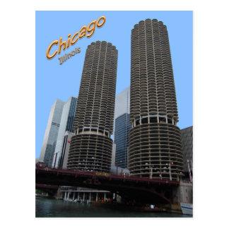 Chicagos Marina Towers Postcard