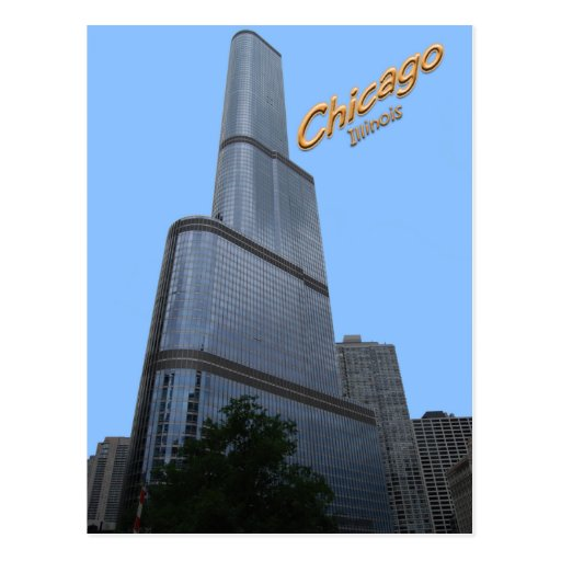 Chicagos Trump Tower Office Building Post Card