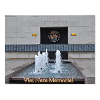 Chicagos Viet Nam Memorial Post Card