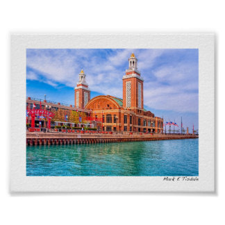 Chicago's Waterfront - Landmark Navy Pier - Mini Poster