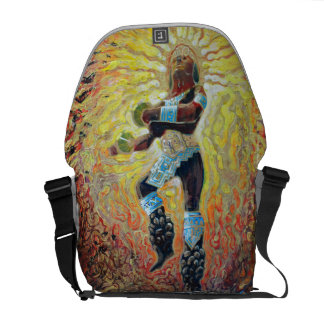 Chicemeca dancer on fire - Amazing Mexico Bag Messenger Bags