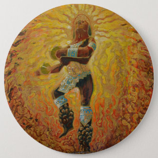 Chicemeca fire dancer - Amazing Mexico Button