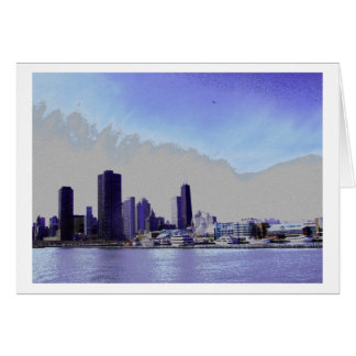 Chicgo skyline - Navy Pier Card
