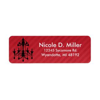Chich Chandelier Return Address Labels