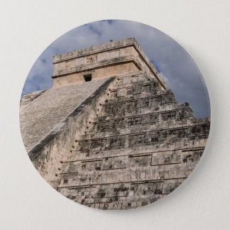 Chichen Itza Mayan Ruin in Mexico 10 Cm Round Badge