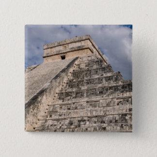 Chichen Itza Mayan Ruin in Mexico 15 Cm Square Badge