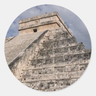 Chichen Itza Mayan Ruin in Mexico Classic Round Sticker
