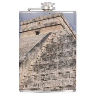 Chichen Itza Mayan Ruin in Mexico Hip Flask