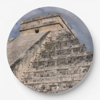 Chichen Itza Mayan Ruin in Mexico Paper Plate