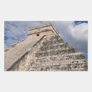 Chichen Itza Mayan Ruin in Mexico Rectangular Sticker