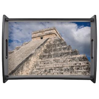Chichen Itza Mayan Ruin in Mexico Serving Tray