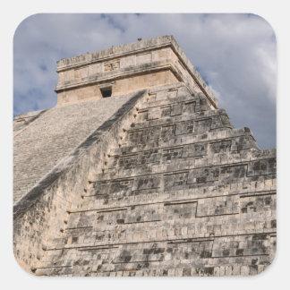Chichen Itza Mayan Ruin in Mexico Square Sticker