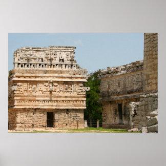 "Chichen Itza Mayan Ruins, ""The Nunnery"" Poster"