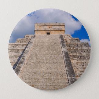 Chichen Itza Mayan Temple in Mexico 10 Cm Round Badge