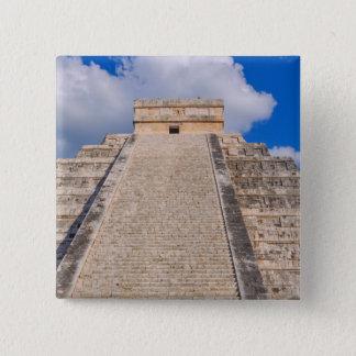 Chichen Itza Mayan Temple in Mexico 15 Cm Square Badge