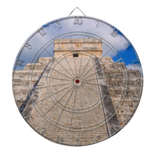 Chichen Itza Mayan Temple in Mexico Dartboard