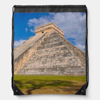 Chichen Itza Mayan Temple in Mexico Drawstring Bag