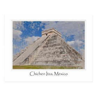 Chichen Itza Mayan Temple in Mexico Postcard