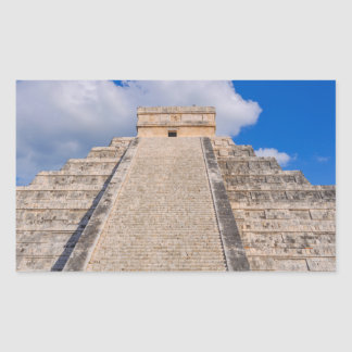 Chichen Itza Mayan Temple in Mexico Rectangular Sticker