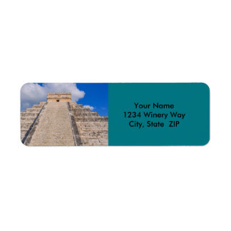Chichen Itza Mayan Temple in Mexico Return Address Label